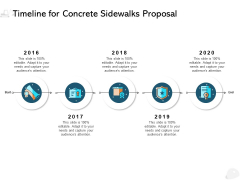 Timeline For Concrete Sidewalks Proposal Ppt PowerPoint Presentation Styles Display