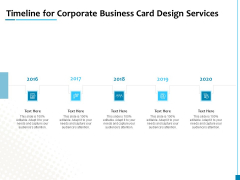 Timeline For Corporate Business Card Design Services Elements PDF