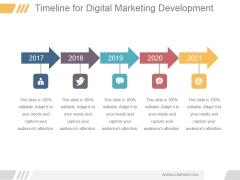Timeline For Digital Marketing Development Ppt PowerPoint Presentation Visuals