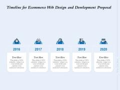Timeline For Ecommerce Web Design And Development Proposal Ppt File Tips PDF