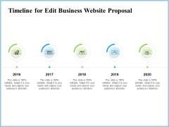 Timeline For Edit Business Website Proposal Ppt Infographics Themes PDF