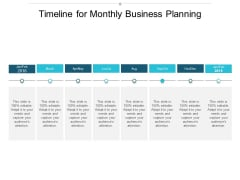 Timeline For Monthly Business Planning Ppt Powerpoint Presentation Styles Graphics