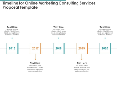 Timeline For Online Marketing Consulting Services Proposal Template Ppt Infographics Clipart PDF