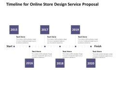 Timeline For Online Store Design Service Proposal Ppt PowerPoint Presentation Outline Picture