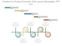Timeline For Product Promotion With Launch Deliverables Ppt Icon