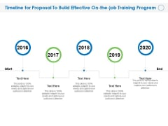 Timeline For Proposal To Build Effective On The Job Training Program Ppt Slides Pictures PDF