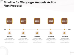 Timeline For Webpage Analysis Action Plan Proposal Ppt PowerPoint Presentation Layouts Templates PDF