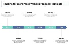 Timeline For Wordpress Website Proposal Template Ppt PowerPoint Presentation Model Templates