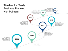 Timeline For Yearly Business Planning With Pointers Ppt Powerpoint Presentation Gallery Example Introduction