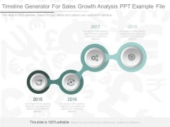 Timeline Generator For Sales Growth Analysis Ppt Example File