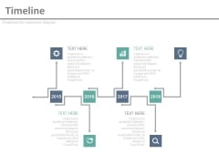 Timeline Infographic Diagram For Business Achievements Powerpoint Slides