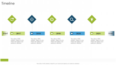 Timeline Organizational Strategies And Promotion Techniques Mockup PDF