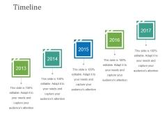 Timeline Ppt PowerPoint Presentation Gallery Deck
