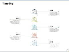 Timeline Roadmap Ppt PowerPoint Presentation Icon Sample
