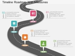 Timeline Roadmap With Milestones Powerpoint Template