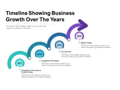 Timeline Showing Business Growth Over The Years Ppt PowerPoint Presentation Infographic Template Vector PDF