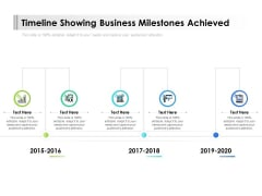 Timeline Showing Business Milestones Achieved Ppt PowerPoint Presentation Outline Layout