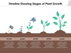 Timeline Showing Stages Of Plant Growth Ppt PowerPoint Presentation Visual Aids Gallery PDF