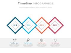 Timeline Steps For Organizational Strategy Powerpoint Slides