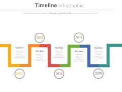 Timeline Steps For Year Based Analysis Powerpoint Slides