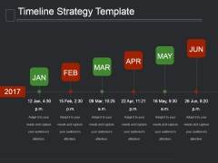 Timeline Strategy Template Ppt PowerPoint Presentation Clipart