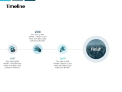 Timeline Three Year Process Ppt PowerPoint Presentation Summary Icons