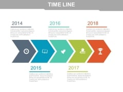 Timeline To Display Trends Powerpoint Slides
