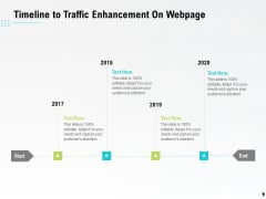 Timeline To Traffic Enhancement On Webpage Ppt PowerPoint Presentation Layouts Graphics Tutorials PDF
