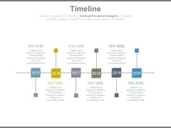 Timeline With Years For Business Success Milestones Powerpoint Slides