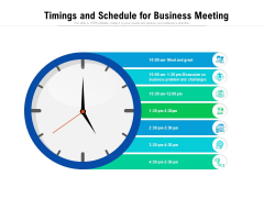 Timings And Schedule For Business Meeting Ppt PowerPoint Presentation File Outline PDF