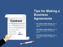 Tips For Making A Business Agreements Ppt PowerPoint Presentation Visual Aids Infographic Template
