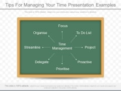 Tips For Managing Your Time Presentation Examples