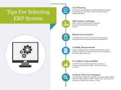 Tips For Selecting Erp System Ppt PowerPoint Presentation Portfolio Styles