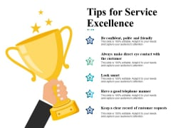 Tips For Service Excellence Ppt Powerpoint Presentation Layouts Designs