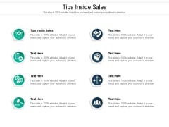 Tips Inside Sales Ppt PowerPoint Presentation Styles Cpb Pdf