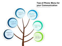 Tips Of Phone Menu For Your Communication Ppt PowerPoint Presentation Gallery Example Introduction PDF