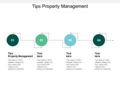 Tips Property Management Ppt PowerPoint Presentation File Information Cpb