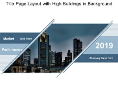 Title Page Layout With High Buildings In Background Ppt Powerpoint Presentation Gallery Layout Ideas