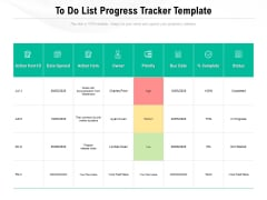 To Do List Progress Tracker Template Ppt PowerPoint Presentation Icon Files PDF
