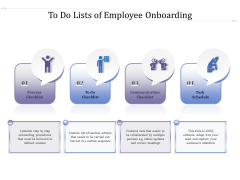 To Do Lists Of Employee Onboarding Ppt PowerPoint Presentation Inspiration Topics PDF