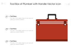 Tool Box Of Plumber With Handle Vector Icon Ppt Infographics Information PDF