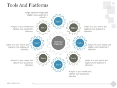 Tools And Platforms Ppt PowerPoint Presentation Model