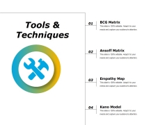Tools And Techniques Ppt PowerPoint Presentation Outline Graphics Template