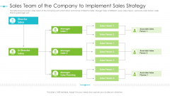 Tools For Improving Sales Plan Effectiveness Sales Team Of The Company To Implement Sales Strategy Slides PDF