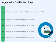 Tools For Prioritization Agenda For Prioritization Tools Ppt PowerPoint Presentation Gallery Styles PDF