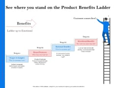 Tools Identify Market Opportunities Business Growth See Where You Stand On The Product Benefits Ladder Ideas Ideas PDF