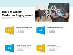 Tools Of Online Customer Engagement Ppt PowerPoint Presentation Gallery Themes PDF