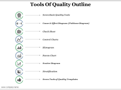 Tools Of Quality Outline Ppt PowerPoint Presentation Summary Introduction