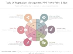 Tools Of Reputation Management Ppt Powerpoint Slides