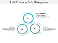 Tools Techniques Project Management Ppt PowerPoint Presentation Slides Structure Cpb
